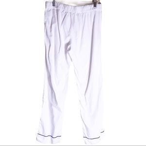 J.crew crisp white cotton pajama lounge pants XS